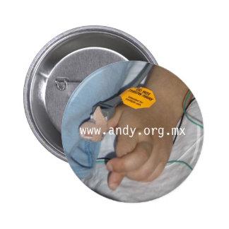Stem Cells - Fingers crossed Pinback Button