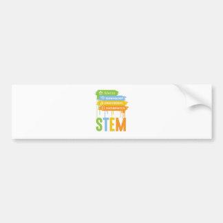 STEM Science Technology Engineering Math School Bumper Sticker