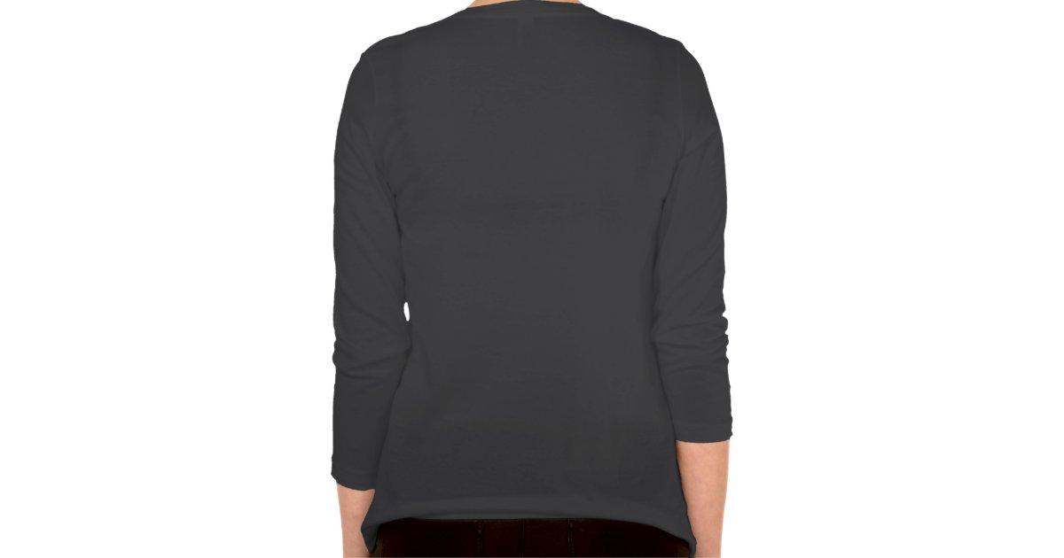Steminist 3 4 sleeve v neck plus size t shirt zazzle for Plus size 3 4 sleeve tee shirts