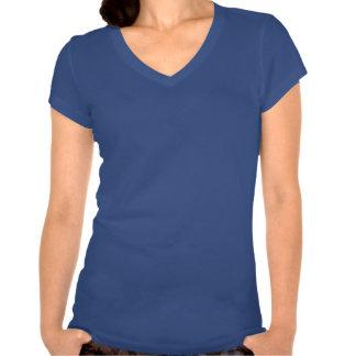 STEMinist cupo el cuello en v (cal/el texto blanco Camisetas