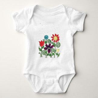 Stemmed Flowers - Watercolor Baby Bodysuit