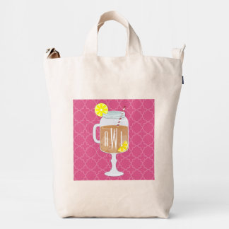 Stemmed Mason Jar of Sweet Tea Monogrammed Bag