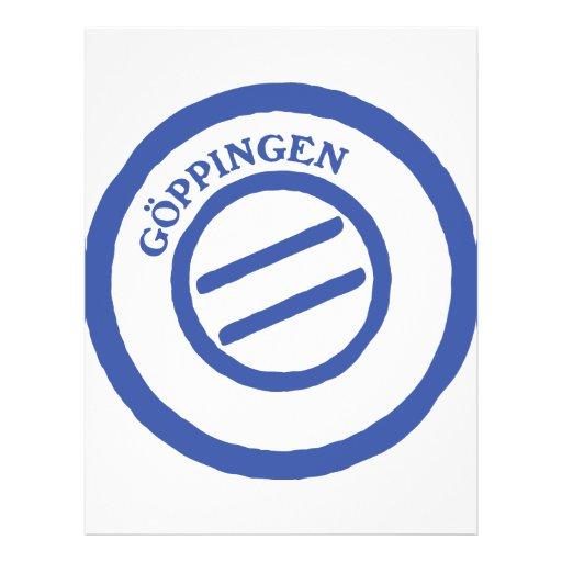 """Stempel del poste de Göppingen Folleto 8.5"""" X 11"""""""