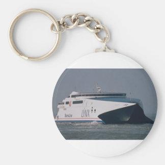 "Stena Line's ""Lynx II"", arriving at Calais, France Basic Round Button Keychain"