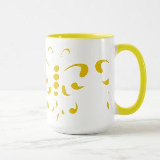 Stencil Butterfly Mug 2 - Yellow