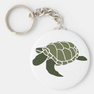 Stencil designer sea turtle key chain