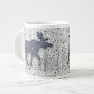 Stencil Graffiti Moose Giant Coffee Mug
