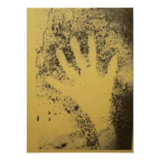 Stencil of a human hand from Cosquer Cave Poster