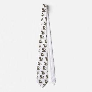 Stencil Space Ape Neck Tie