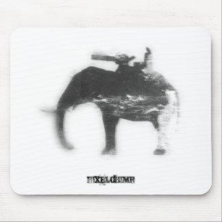 Stencil Spray Elephant Mousepads