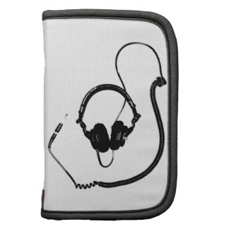 Stencil Style DJ Headphones Folio Planner