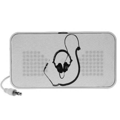 Stencil Style DJ Headphones iPhone Speaker