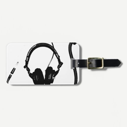 Stencil Style DJ Headphones Luggage Tag