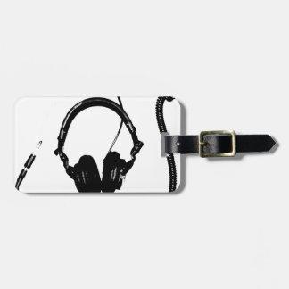 Stencil Style DJ Headphones Luggage Tags