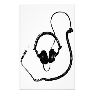 Stencil Style DJ Headphones Stationery