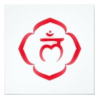 """Stenciled"" 1st Chakra - Muladhara 5.25x5.25 Square Paper Invitation Card"