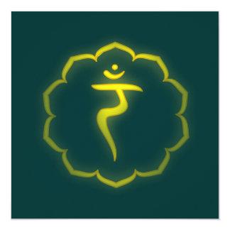 """Stenciled"" 3rd Chakra - Manipura Invitation"