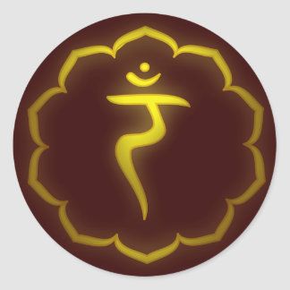 Stenciled 3rd Chakra - Manipura Stickers