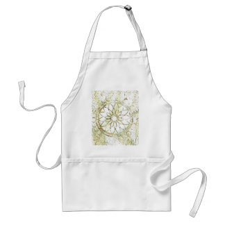 Stenciled Art Design Apron