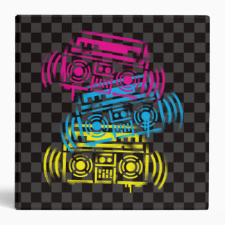Stenciled Boomboxes Binders