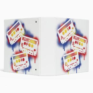 Stenciled Cassettes 3 Ring Binder