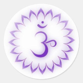 """Stenciled"" Crown Chakra - Sahasrara Stickers"