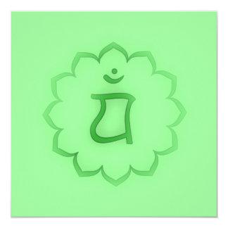 """Stenciled"" Heart Chakra - Anahata Card"