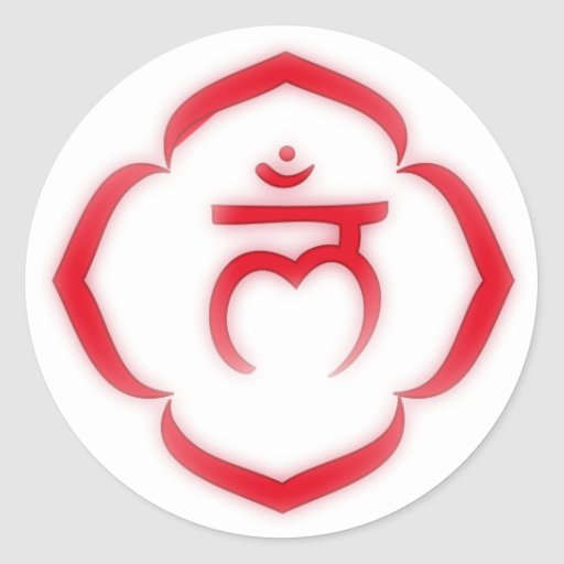 """Stenciled"" Root Chakra - Muladhara Stickers"