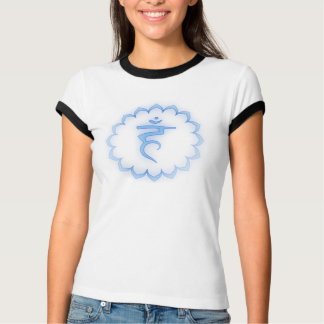 """Stenciled"" Throat Chakra - Light Blue T-Shirt"