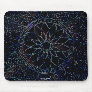 Stencilled Doily Mouse Pad