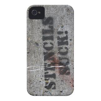 """stencils suck"" grafitti Case-Mate iPhone 4 cases"