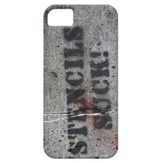 """""""stencils suck"""" grafitti iPhone SE/5/5s case"""