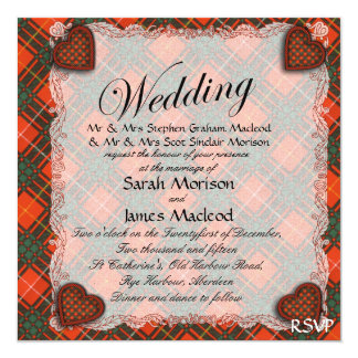 Stenhouse family clan Plaid Scottish kilt tartan Card