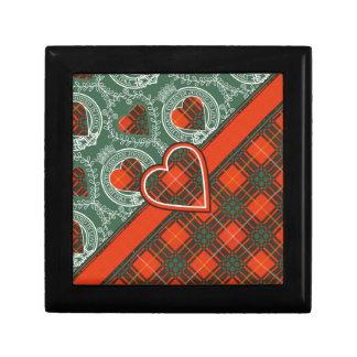 Stenhouse family clan Plaid Scottish kilt tartan Gift Box