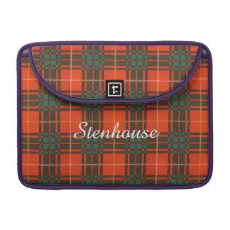 Stenhouse family clan Plaid Scottish kilt tartan MacBook Pro Sleeve