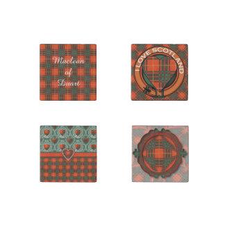 Stenhouse family clan Plaid Scottish kilt tartan Stone Magnet