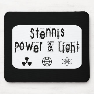 Stennis Power and Light, White Mouse Pad