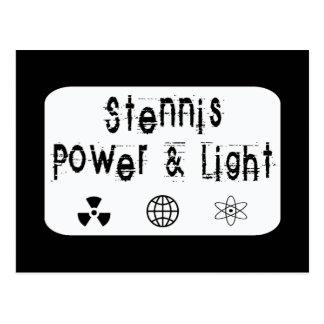 Stennis Power and Light, White Postcard