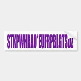 Steno Keyboard Letters Bumper Sticker