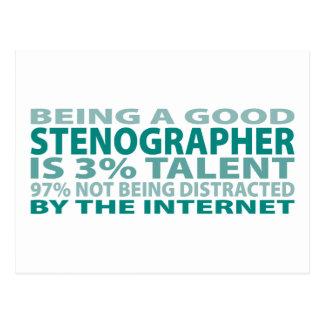 Stenographer 3% Talent Postcard