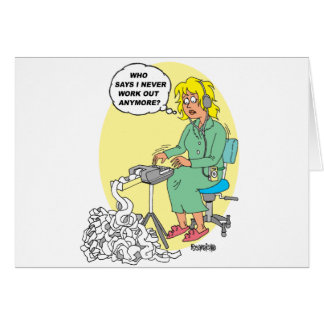 Stenographer Cartoon Greeting Card
