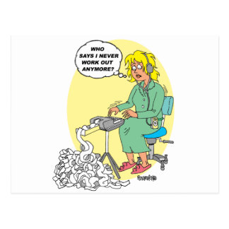 Stenographer Cartoon Postcard
