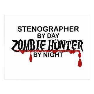Stenographer Zombie Hunter Postcard