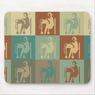 Stenography Pop Art Mouse Pads