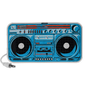 stenSOUL Ghetto Blaster Blue Travel Speakers