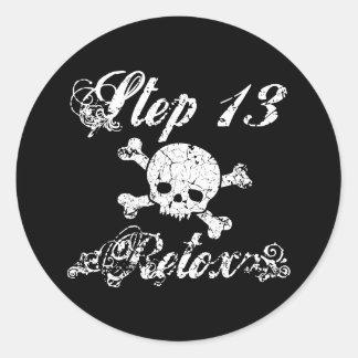 Step 13 - Retox Classic Round Sticker