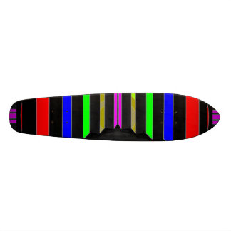 Step and STEPS : Colorful Beauty Stripes Skateboard Deck