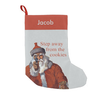 Step Away from the Cookies Small Christmas Stocking