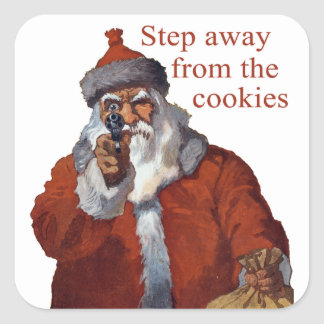Step Away from the Cookies Square Sticker