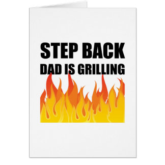 Step Back Dad Grilling Card